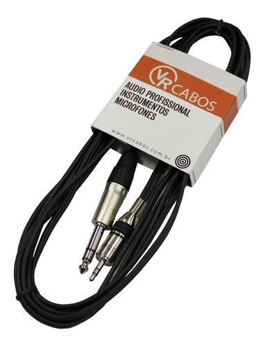 cabo emborrachado 5mt p2 m estéreo / p10 m estéreo - vr cabo