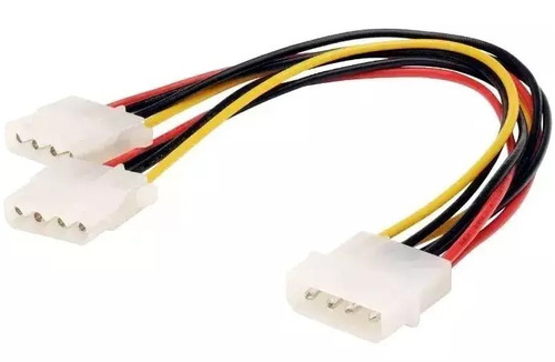 cabo extensor adaptador de fonte ide ata extensão 20cm molex