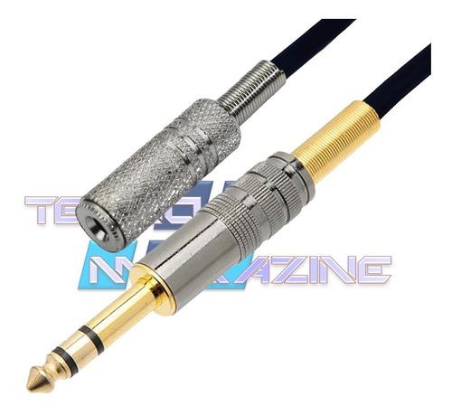 cabo extensor p2 femea p10 stereo 10 mt fone ouvido