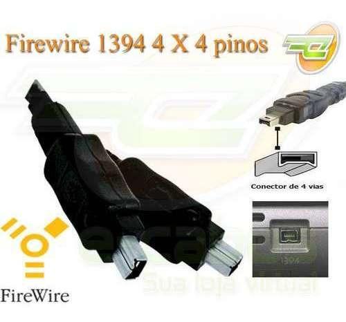 cabo firewire ieee1394 4x4 3 metros filmadora sony jvc e out