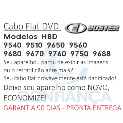 cabo flat cable dvd h buster hbd 9510 9540 9560 hbuster