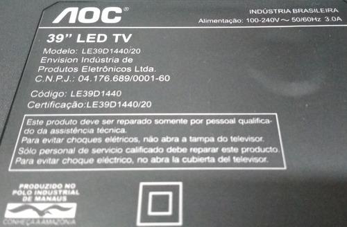 cabo flat display inverter tv aoc le39d1440/20 (par)