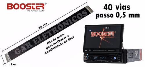 cabo flat dvd retrátil booster bmtv-9680dvusbt 40 vias
