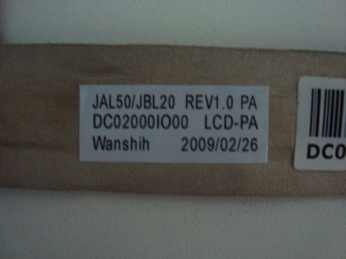 cabo flat hp dv4 - p/n dc02000io00