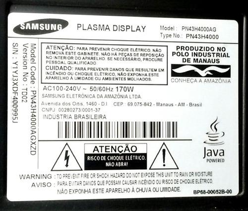 cabo flat kit da tv samsung plasma 43 mod-pn43h4000agxzd