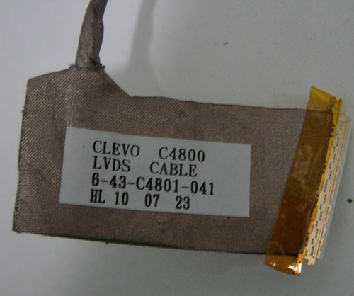 cabo flat led positivo sim+  itautec a7520   6 43 c4801 -041