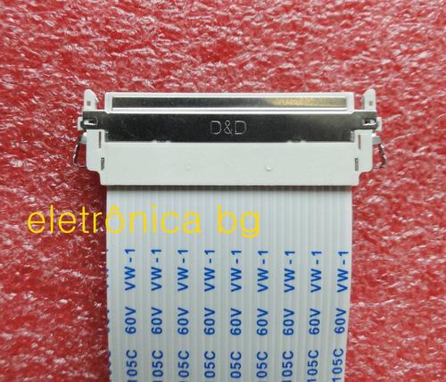cabo flat lvds philco ph24d21dm 30v 30p 200mm original