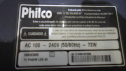 cabo flat lvds tv philco ph32m led a3