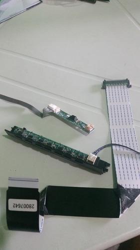 cabo flat, sensor do remoto e pci do teclado semp. dl3944.