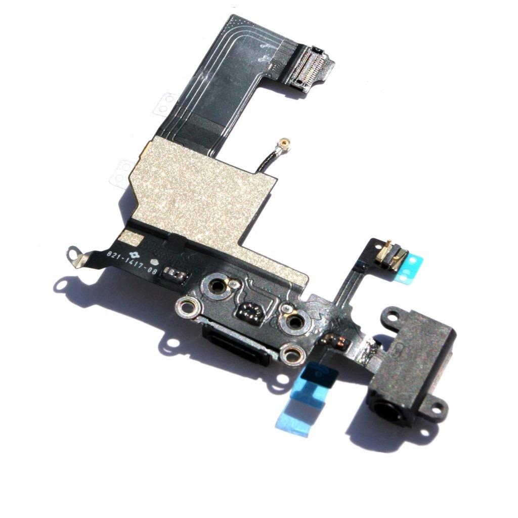 Cabo Flex Conector Carga Dock Microfone Jack Iphone 5
