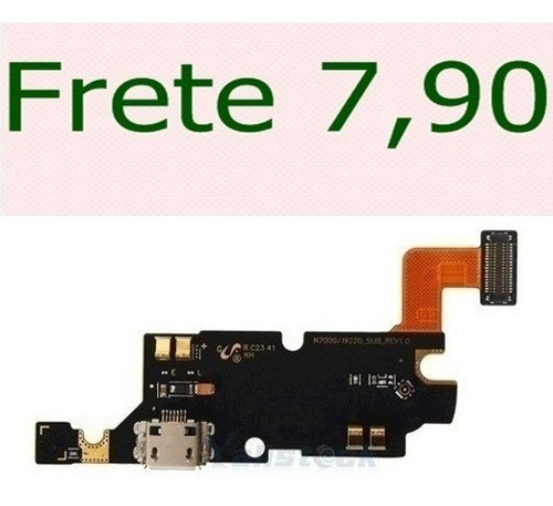 cabo flex flat dock conector carga e usb galaxy note n7000