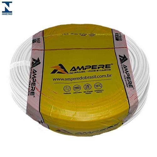 cabo flexivel 10mm 100 metros ampere / condusbra full