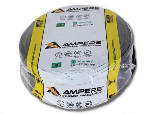cabo flexivel 6mm 100 metros ampere / condusbra full