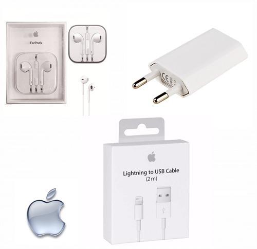 30dfb56b780 Cabo + Fone + Carregador iPhone 5 5s 5c 6 6s 7 Plus Apple - R$ 49,99 ...