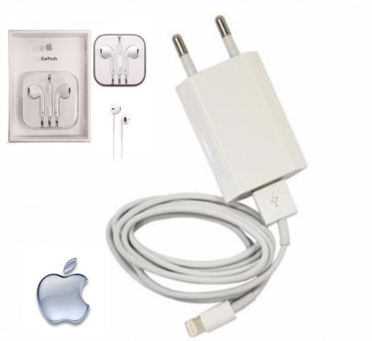 3d9210cb090 Cabo + Fone + Carregador iPhone 5s 5 5c 6 6s 7 Plus Original - R$ 44 ...