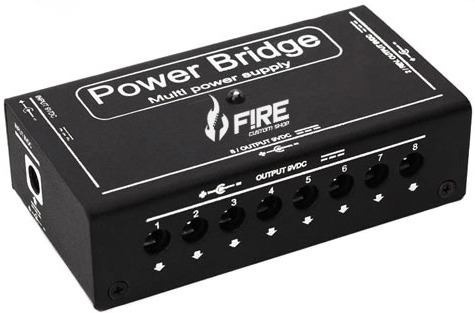 cabo fonte fire pedal guitarra 10 pedais power bridge 9v