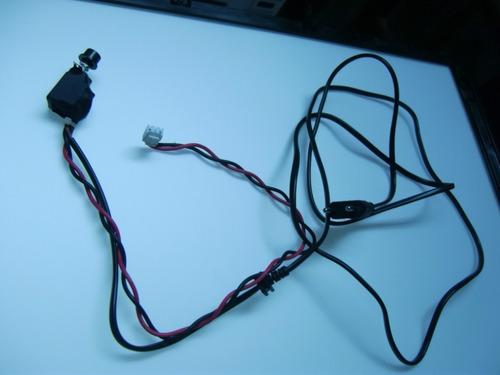 cabo força com chave e botão da tv semp toshiba 32 lc4245w