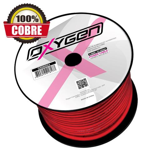 cabo força oxygen 100% cobre, 4awg - 21,15mm² - 25 metros