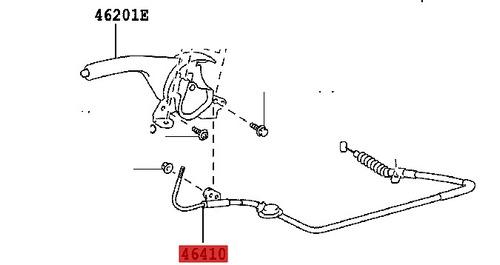 cabo freio de mão interno toyota hilux 05 à 12 original