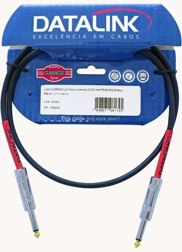cabo garage p/ instrumentos 0,20 mm2 p10-p10 l=1 metro