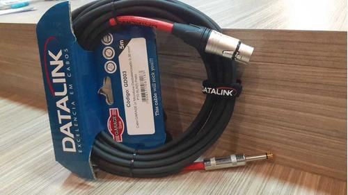cabo garage p/ mic 0,30 mm2 p10-xlr(f) preto l=5 metros