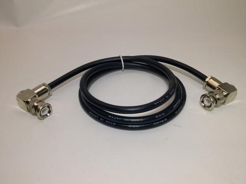 cabo hd sdi canare extra flexível bnc 90° + bnc 90° 1 metro