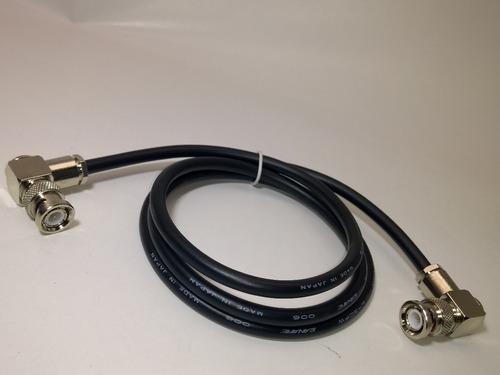 cabo hd sdi canare extra flexível bnc 90° + bnc 90° 5 metros