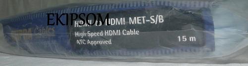 cabo hdmi 2.0 supra cable 15 metros hi-end 4k 3d