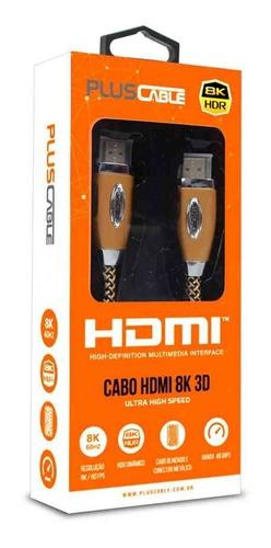 cabo hdmi 2.1 8k hdr ultra hd dinâmico 1,50 metros