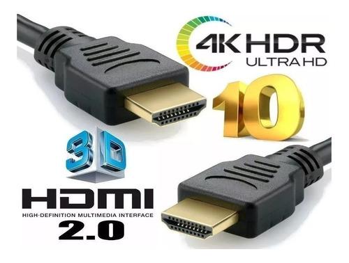 cabo hdmi 4k ultra full hd 30awg 3d 6mm dourado 05 metros
