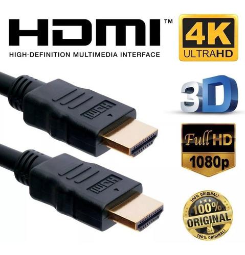 cabo hdmi 4k ultra hd 30awg 3d 6mm dourado com filtro 10 mtt