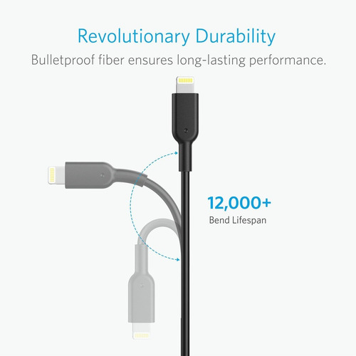 cabo lightining anker powerline 2 3mt apple ipad iphone 8 x