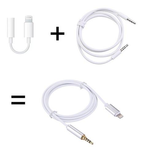 cabo lightning / 3.5mm aux áudio p2 p/ iphone 7 8 x xr xs mx
