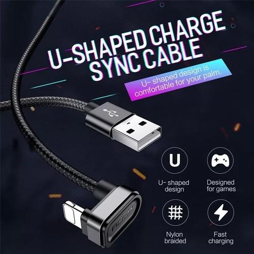 cabo lightning gamer rock u-shape nylon 2m iphone original