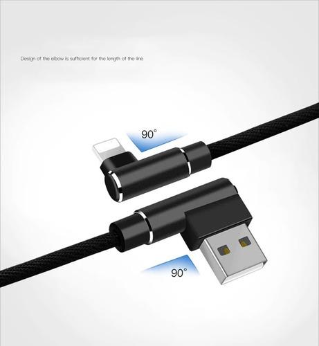 cabo lightning iphone usb 90 graus em l reforçado frete r$14