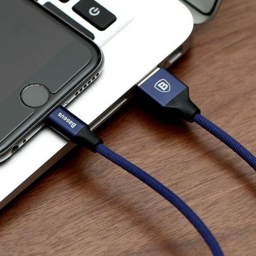 cabo lightning para iphone e ipad baseus reforçado 3m
