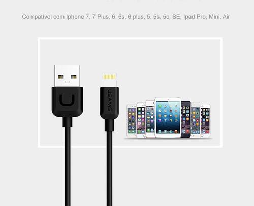 cabo lightning premium para iphone ipad dados e carregamento