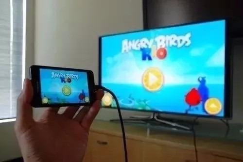 cabo mhl hdmi micro usb tv em smart tv celular samsung