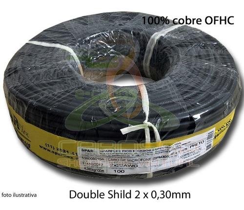 cabo microfone balanceado estereo / dmx  c/ 100m - sparflex