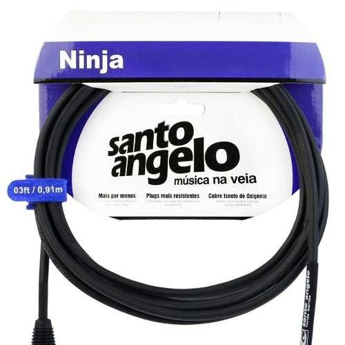 cabo microfone santo angelo p10 xlr macho ninja nm