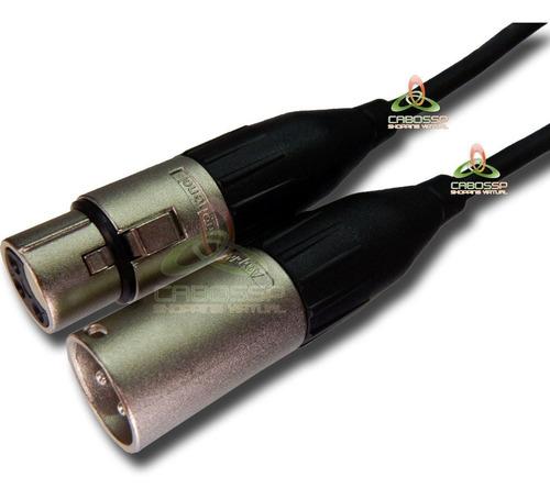 cabo microfone xlr cabo 2x0,40mm  conector amphenol 7 metros