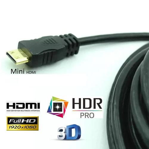 cabo mini hdmi x hdmi p/ camera filmadora canon fuji nikon