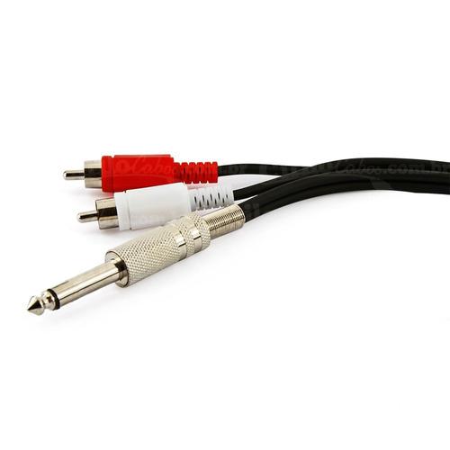 cabo p10 mono para 2 rca com 3 metros - cirilo cabos