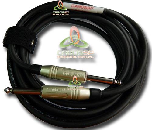cabo p10 para instrumentos conectores amphenol 10 metros