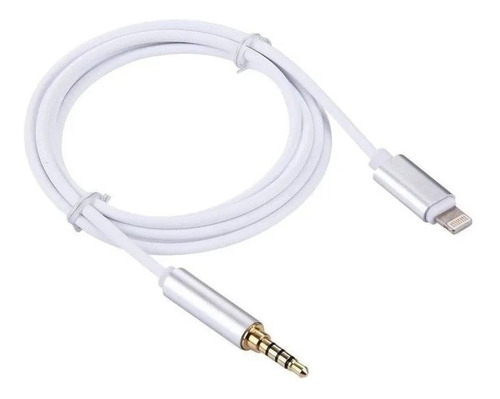 cabo p2 auxiliar iphone 7, 8, x lightning para 3,5mm