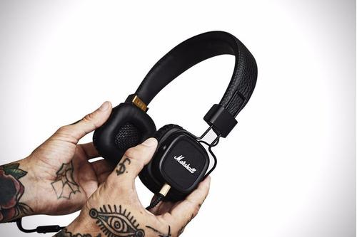 cabo p2 fone marshall major c/ controle remoto e microfone