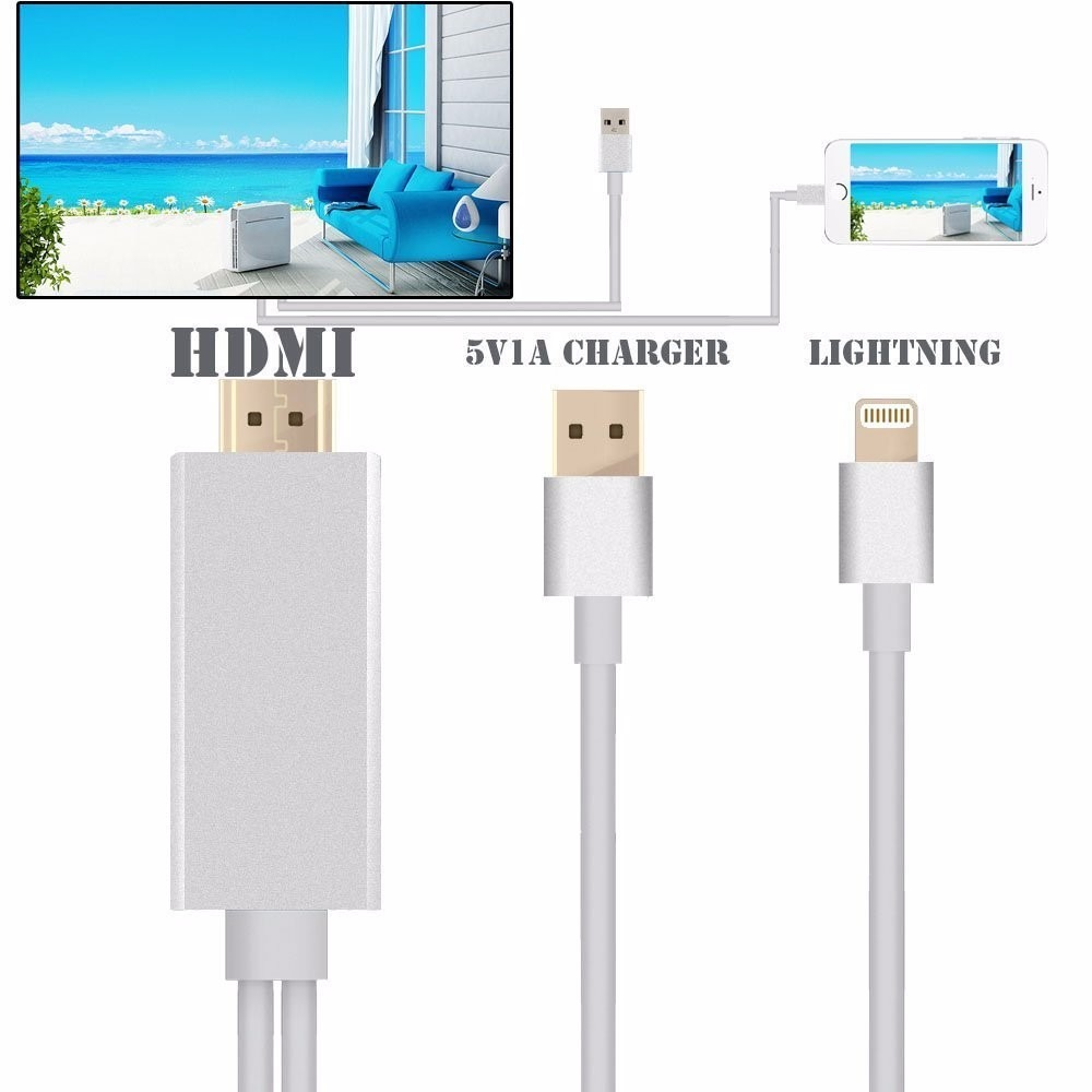 Mhl Cabo Adaptador Usb Para Hdmi Celular Na Tv Iphone 5