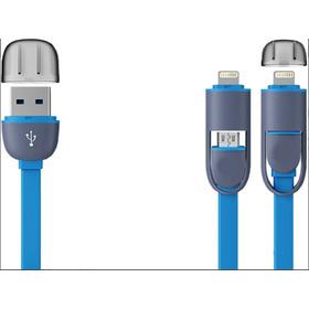 Cabo Para iPhone 5 6 7 Com 1 Metro 2 Em 1 Usb X Micro V8 Lit