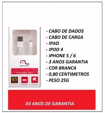 cabo para iphone 7 e ipad  wi256 garantia de 3 anos iph 5/6