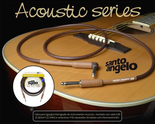cabo para violão santo angelo acoustic 4,57 metros plug em l